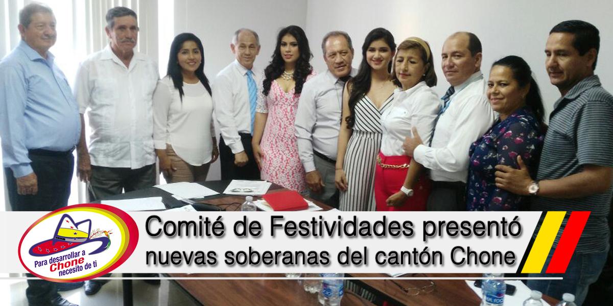 Comité de Festividades presentó nuevas soberanas del cantón Chone