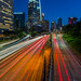 Over the 110 Fwy in DTLA by Joits