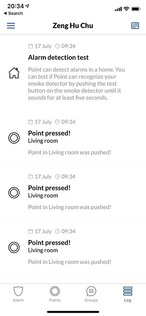 Point iOS App - Logs