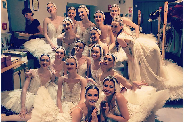 Artists of The Royal Ballet on tour in Madrid (Photo: Instagram/@micabradbury)