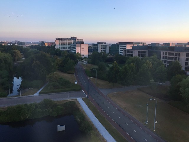 View from the Best Western Plus Amedia. Schipohl, Amsterdam Netherlands.  July 23 2018.