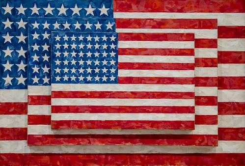 Jasper Johns, Three Flags, 1958 1/15/18 #whitneymuseum