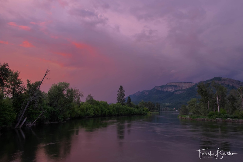 July stormy sunset