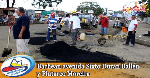 Bachean avenida Sixto Duran Ballén y Plutarco Moreira