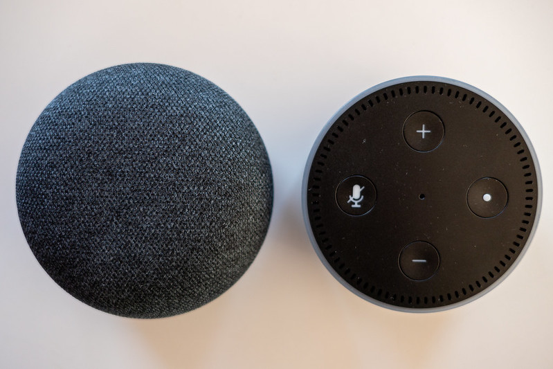 Amazon Echo Dot & Google Home Mini