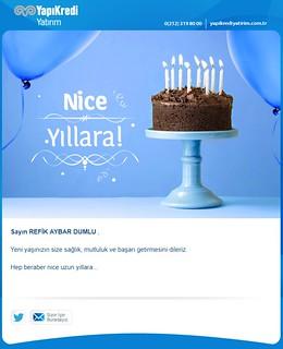 yapı kredi yatırım doğum günün mesajı