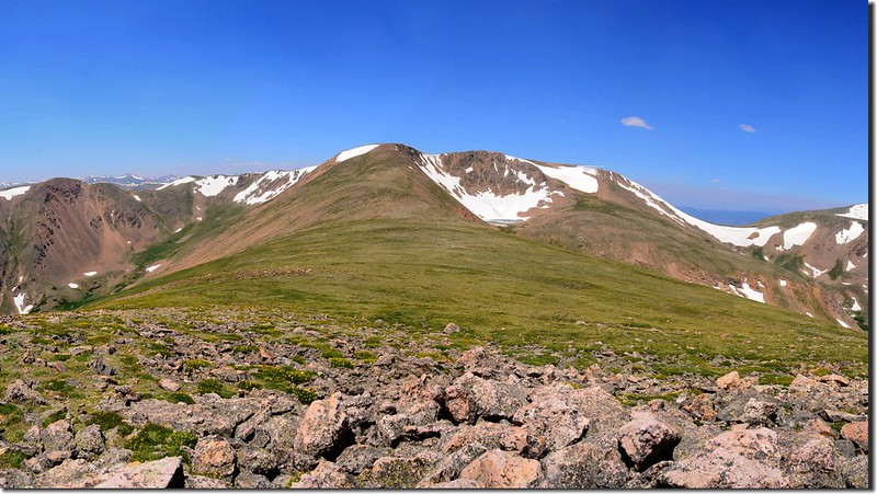 Looking northwest at Mount Flora from Breckenridge Peak's summit