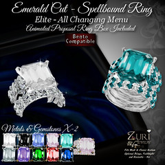 Zuri's Emerald Cut Elite Spellbound Ring