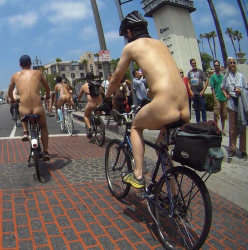 L.A. World Naked Bike Ride 2018 (140142) Union Station