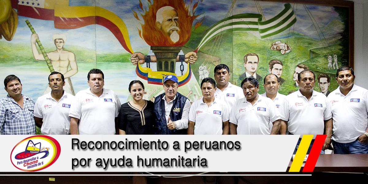 Reconocimiento a peruanos por ayuda humanitaria