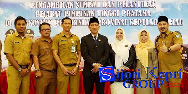 Kadis Pendidikan Kepri Dr Drs Muhammad Dali MM, bersama Kabid dan Kasi Dinas Pendidikan Provinsi Kepri