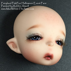 Fairyland PukiFee Halloween Event Head painted by Robbin Atwell