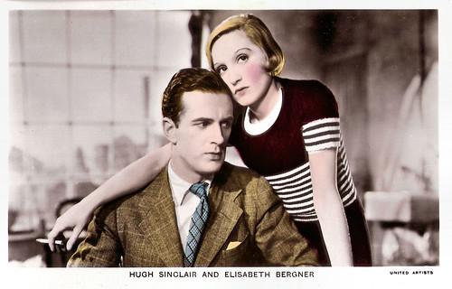 Hugh Sinclair and Elisabeth Bergner in Escape Me Never (1935)
