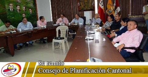 Se reunió Consejo de Planificación Cantonal