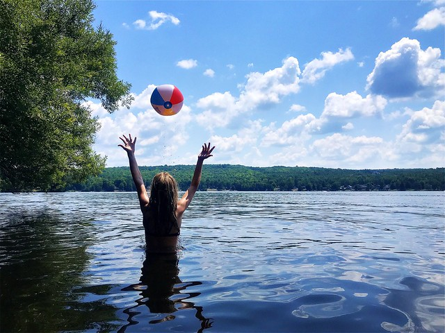 •girl and beach ball•