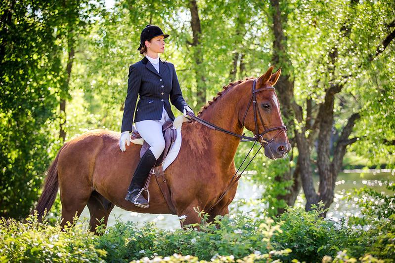Фотосет Пануриной Виктории c лошадьми музея