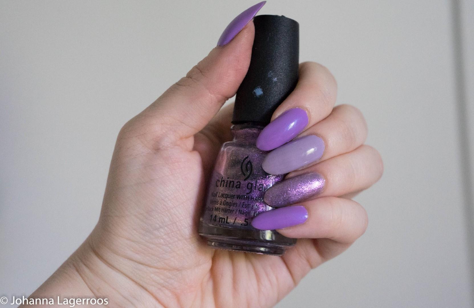 purple skittle nails