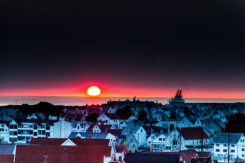 haugesund norway sunset evening