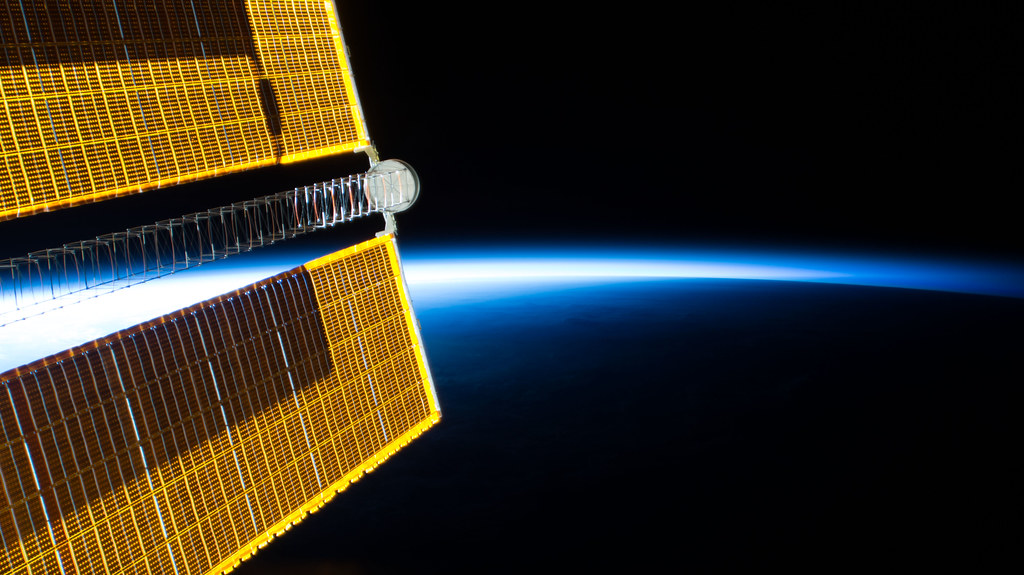 The International Space Station soars into an orbital sunrise over eastern China