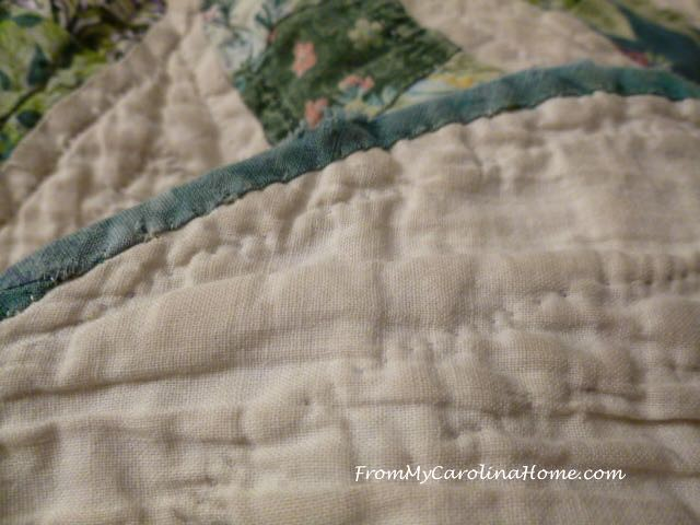 Severly Damaged Quilt Repair at From My Carolina Home