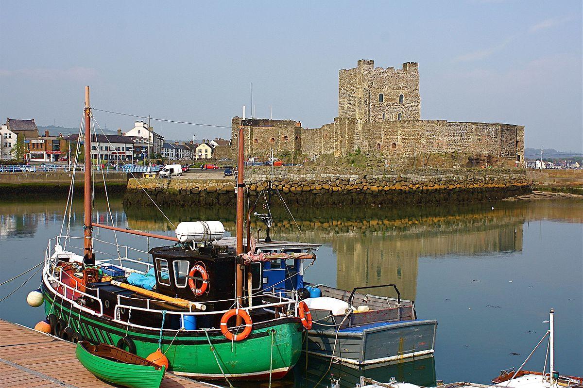 Carrickfergus Castle and harbor.