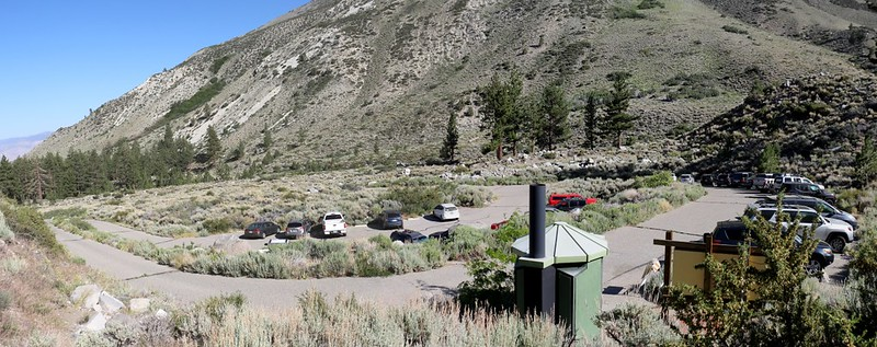 We parked our car at the main North Fork Big Pine Creek Trailhead parking lot and started hiking