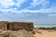 Bunker at the beach El palmar Spain