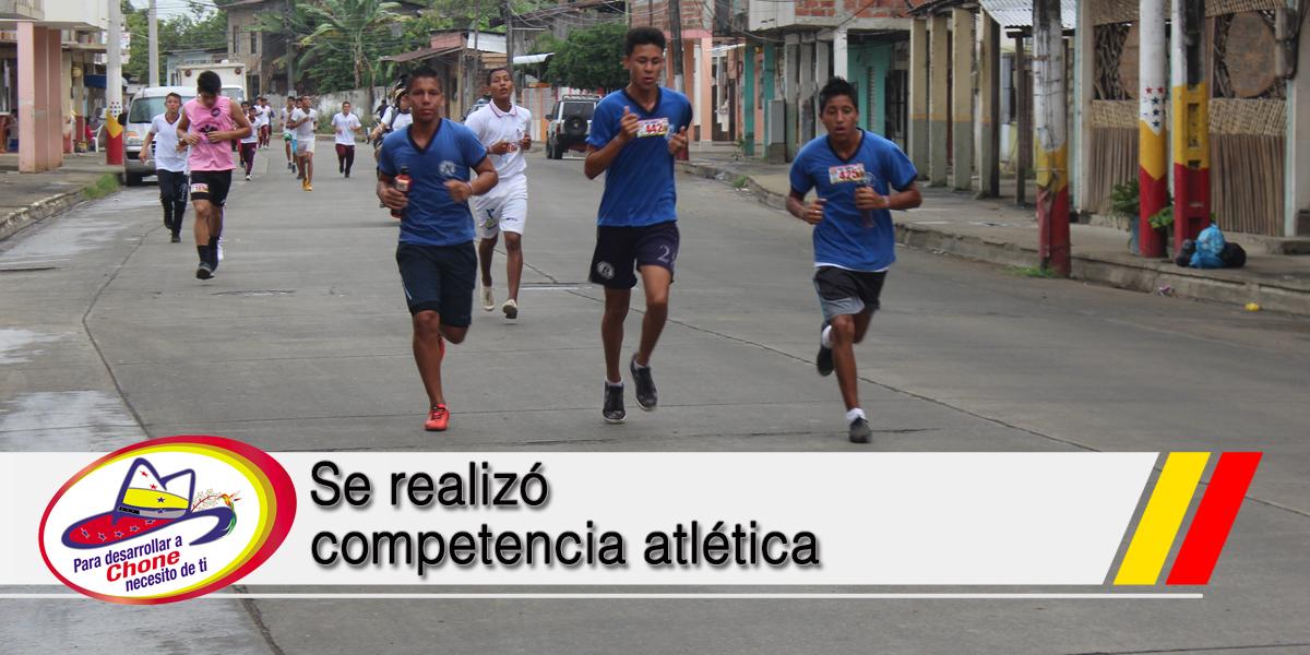 Se realizó competencia atlética