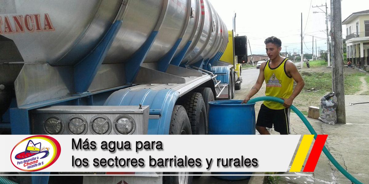 Más agua para los sectores barriales y rurales