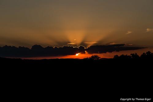 Sonnenuntergang im Kanton Aargau