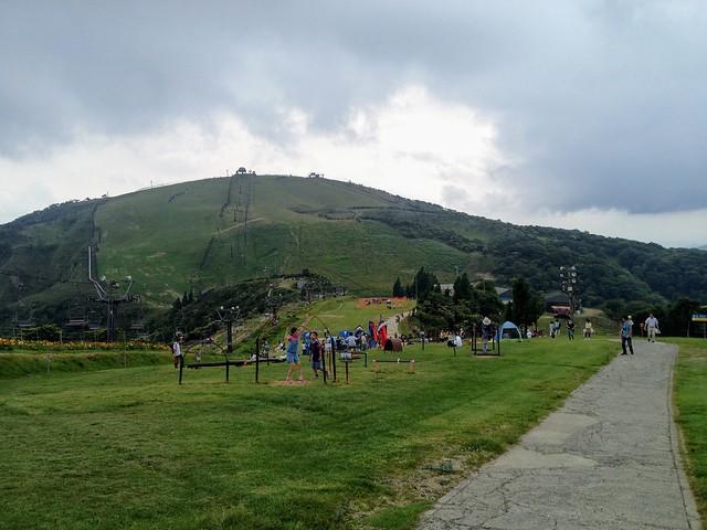 蓬莱山 琵琶湖バレイ 打見山から蓬莱山