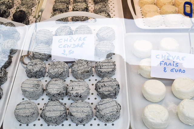 Local Goats Cheese at Sarlat Market, South West France #cheese #goatscheese #sarlat #market #farmersmarket #france #dordogne