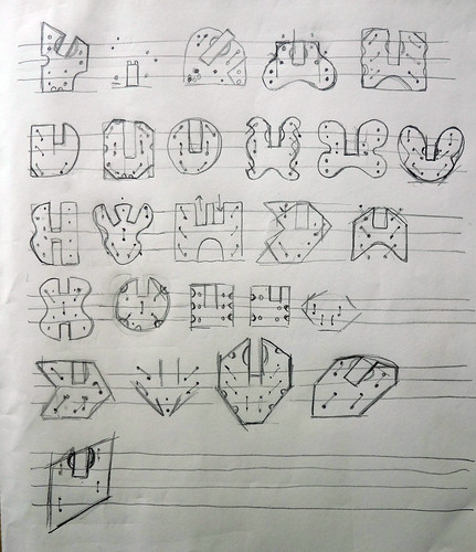 Lulu shape variation sketches