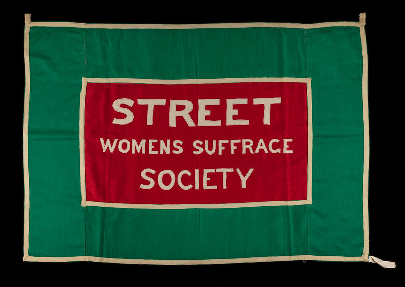 Street Woman's Suffrage Society banner, made by Esther Clothier. Credit: LSE Library