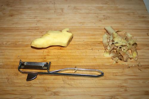 27 - Ingwer schälen / Peel ginger