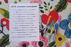 summer manifesto 2018