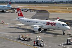 Swiss Global Airlines Bombardier CSeries CS300 HB-JCC LHR 01-07-18