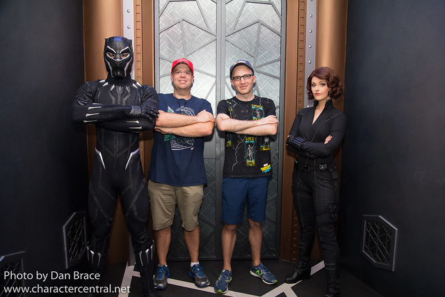 Meeting Black Panther and Black Widow