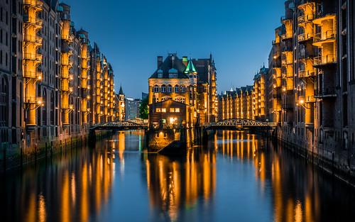 Blue Hour in Hamburg - Wasserschloss from Toni Hoffmann