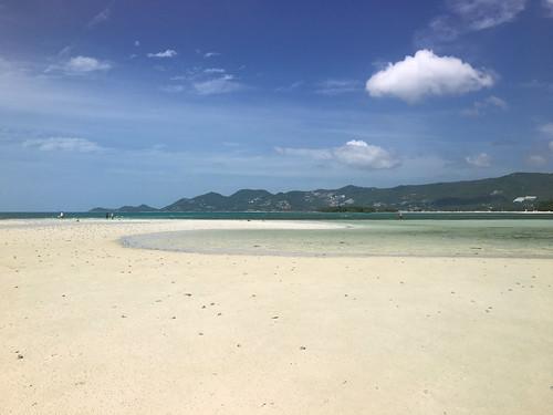 サムイ島 今年最干潮0.83mのチャウエンビーチ北端