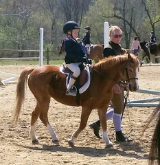 2018-04-22 - Emily 1st horse show for 2018