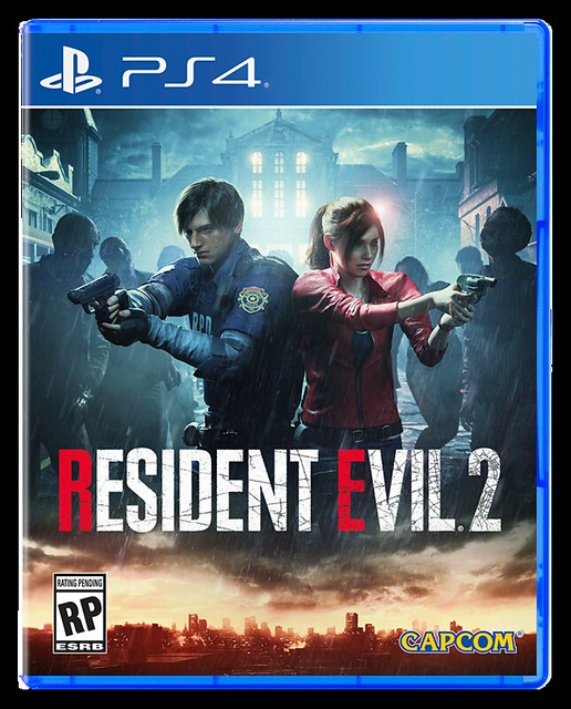 Resident Evil 2 PS4 box art