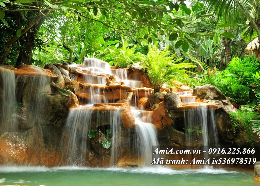 Tranh đẹp chủ đề thác nước thiên nhiên