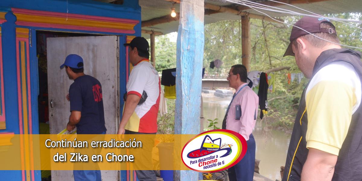 Continúan erradicación del Zika en Chone