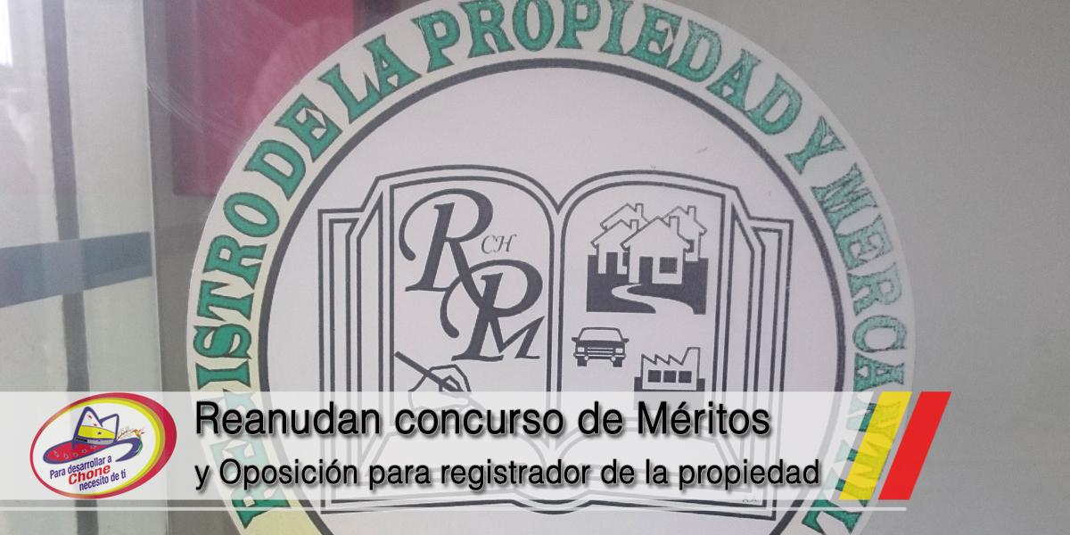 Reanudan concurso de Méritos y Oposición para registrador de la propiedad