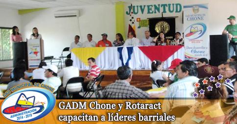 GADM Chone y Rotaract capacitan a líderes barriales