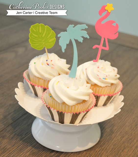 Jen Carter Tropically Yours Party Set Cupcakes