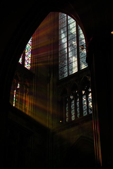As light through a prism.