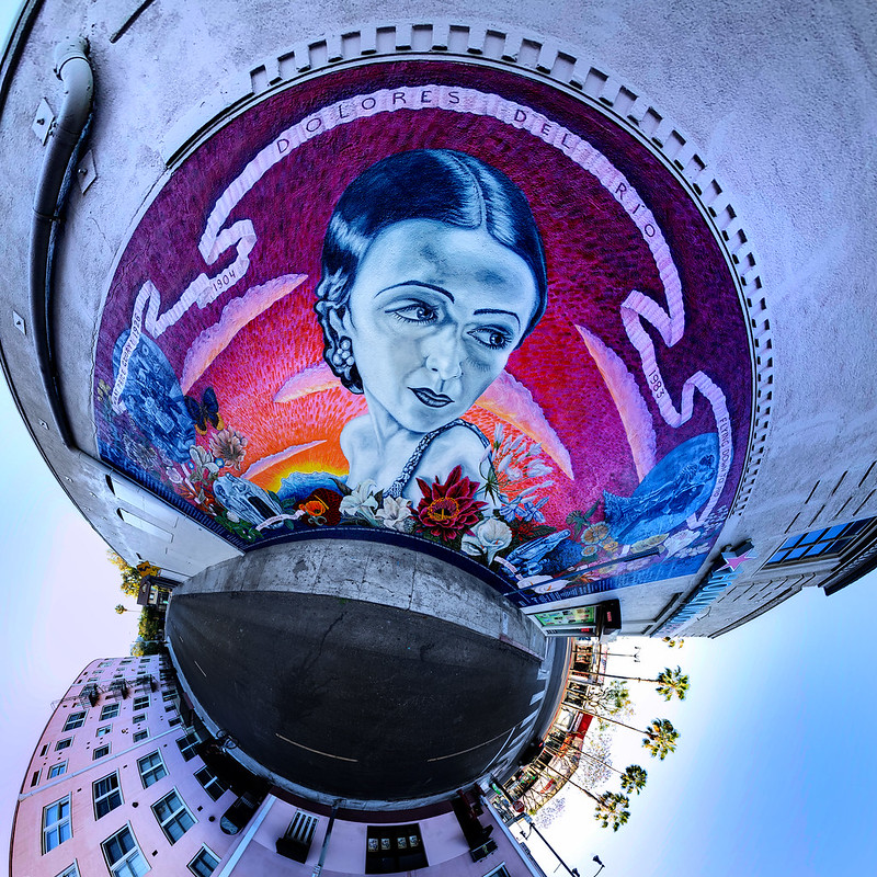 Dolores Del Río Mural Little Planet