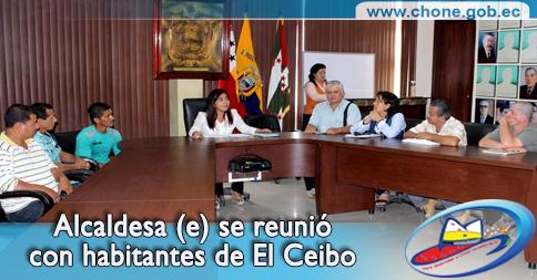 Alcaldesa (e) se reunió con habitantes de El Ceibo